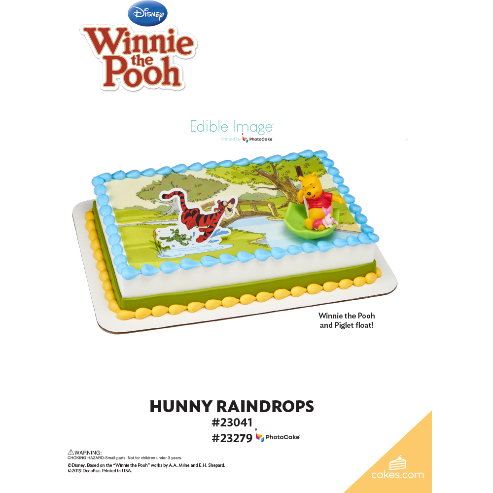 Winnie the Pooh Pooh, Piglet & Tigger Hunny Raindrops The Magic of Cakes® Page