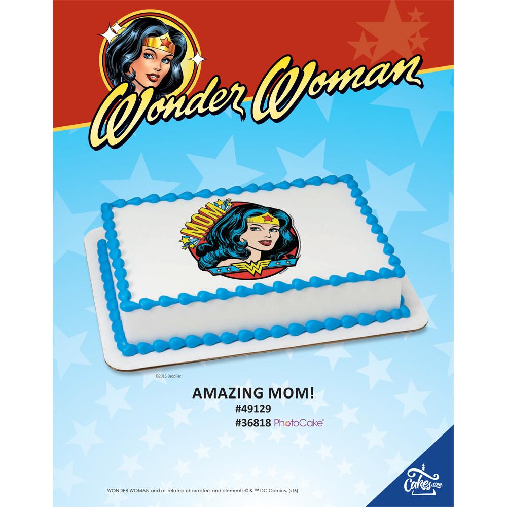 Wonder Woman Amazing Mom Edible Image®/PhotoCake® Image The Magic Of Cakes® Page
