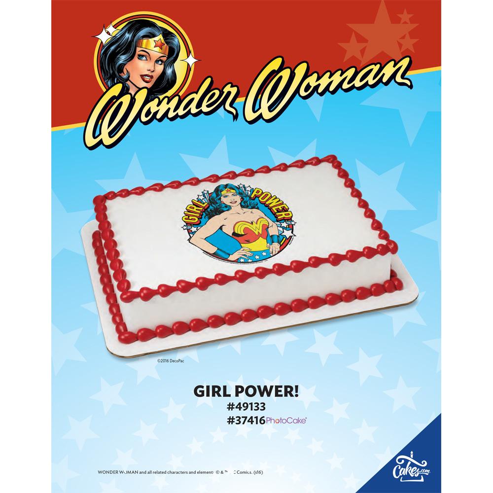 Wonder Woman Girl Power! Edible Image®/PhotoCake® Image The Magic Of Cakes® Page