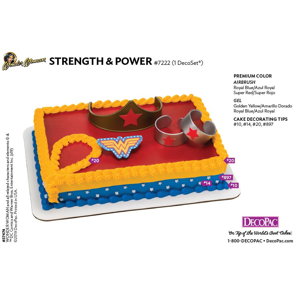 Wonder Woman™ Strength & Power Cake Decorating Instruction Card