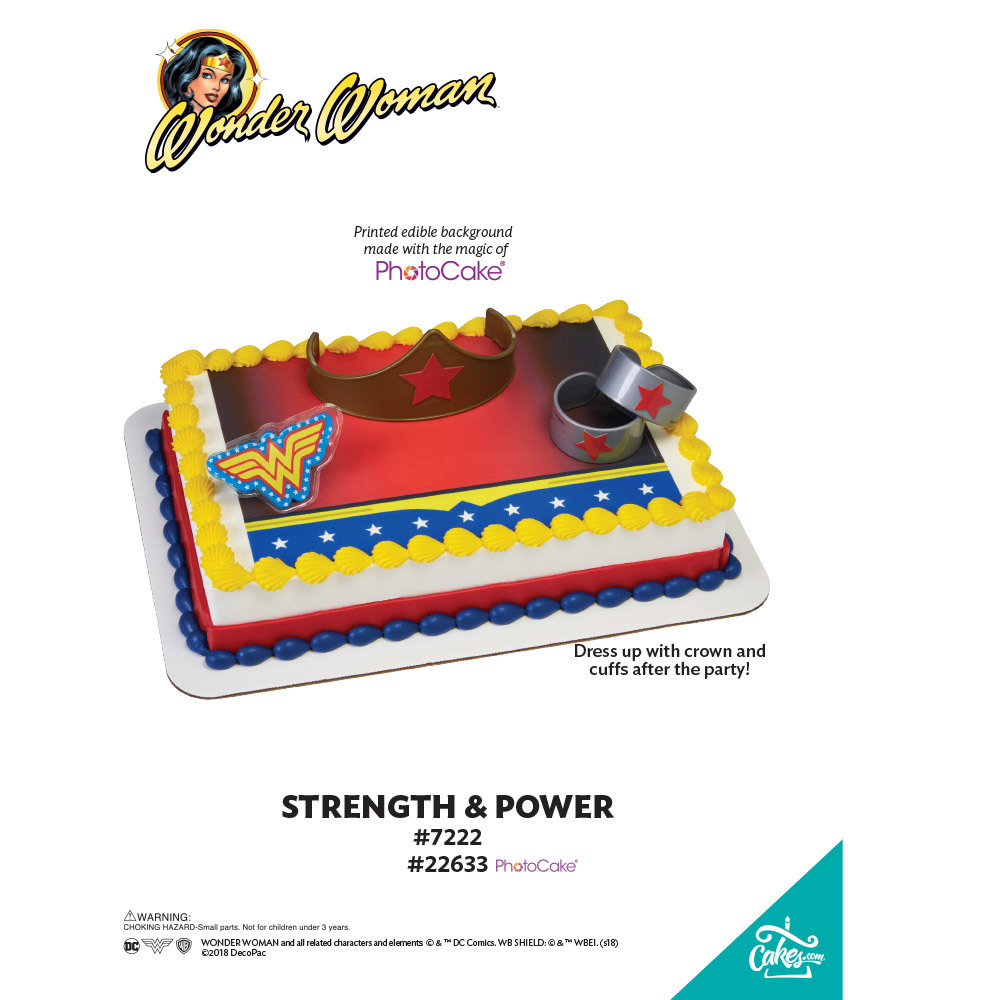 Wonder Woman™ Strength & Power PhotoCake® Background The Magic of Cakes® Page
