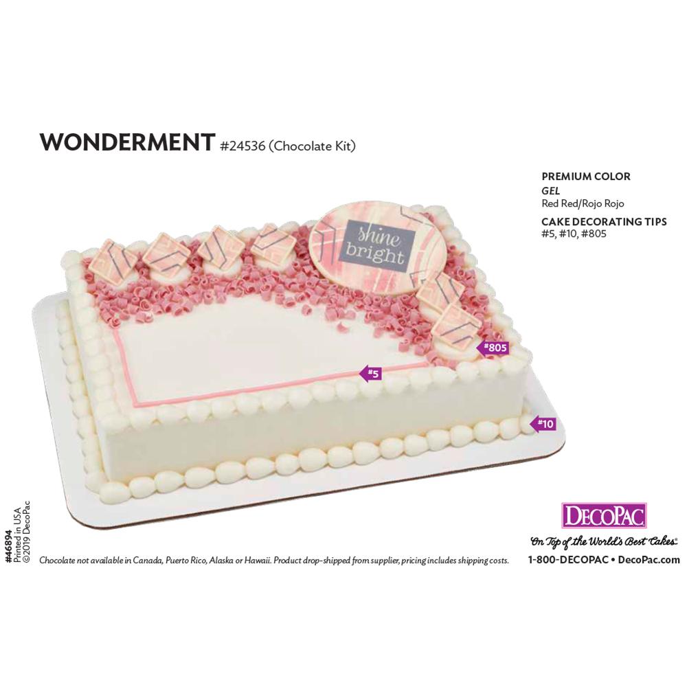 Wonderment Cake Decorating Instruction Card