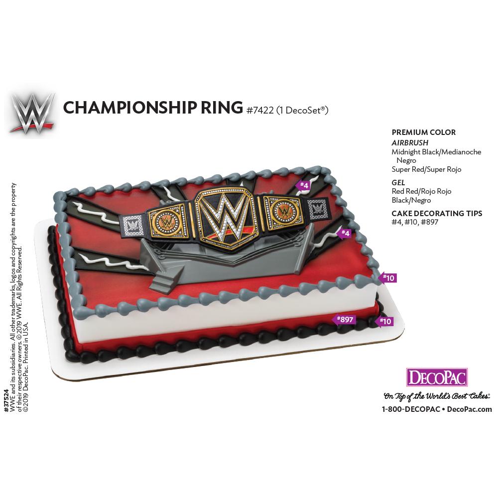 WWE™ Championship Cake Decorating Instruction Card