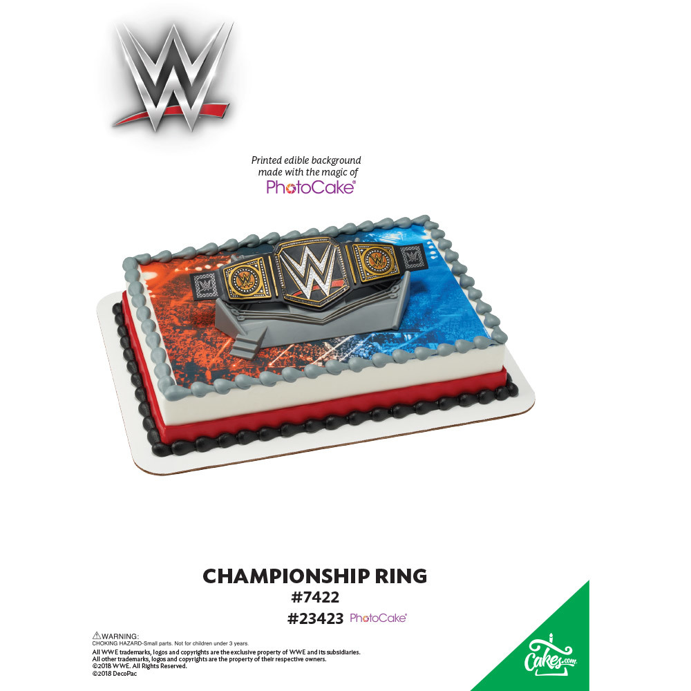 WWE™ Championship Ring PhotoCake® Background The Magic of Cakes® Page