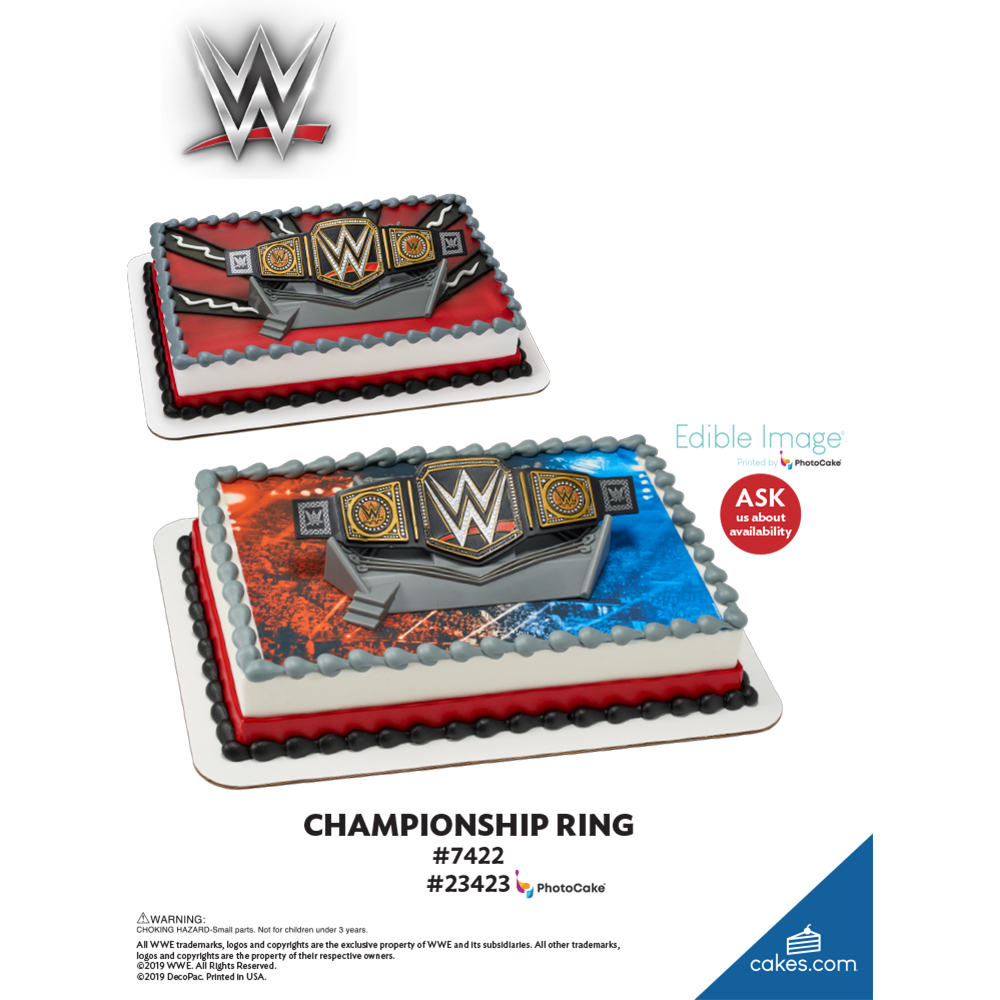 WWE™ Championship Ring The Magic of Cakes® Page