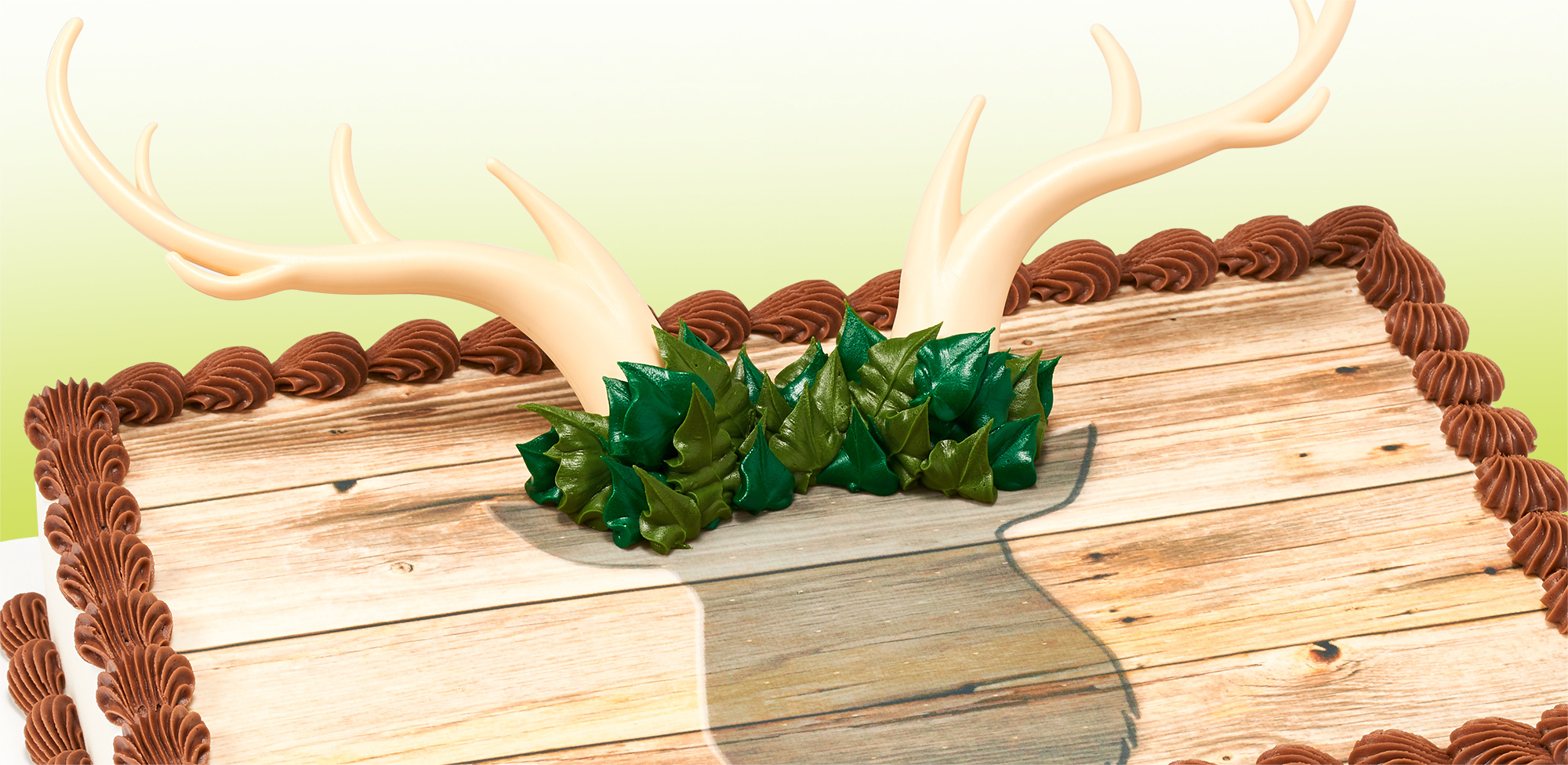 Wood Grain Deer Antler Cake