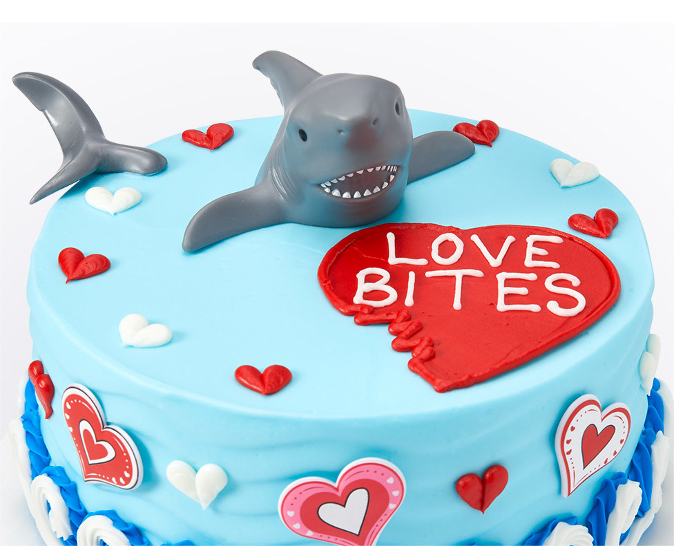 Love Bites Shark Cake