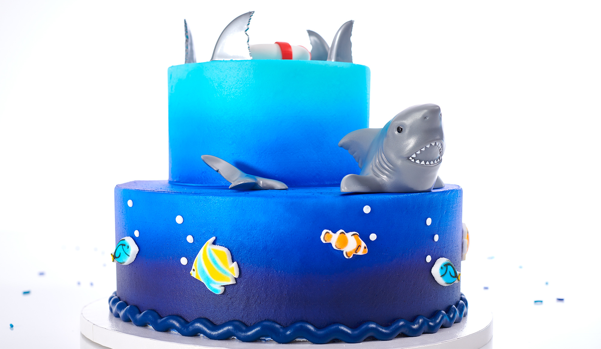 2 Layer Shark Cake