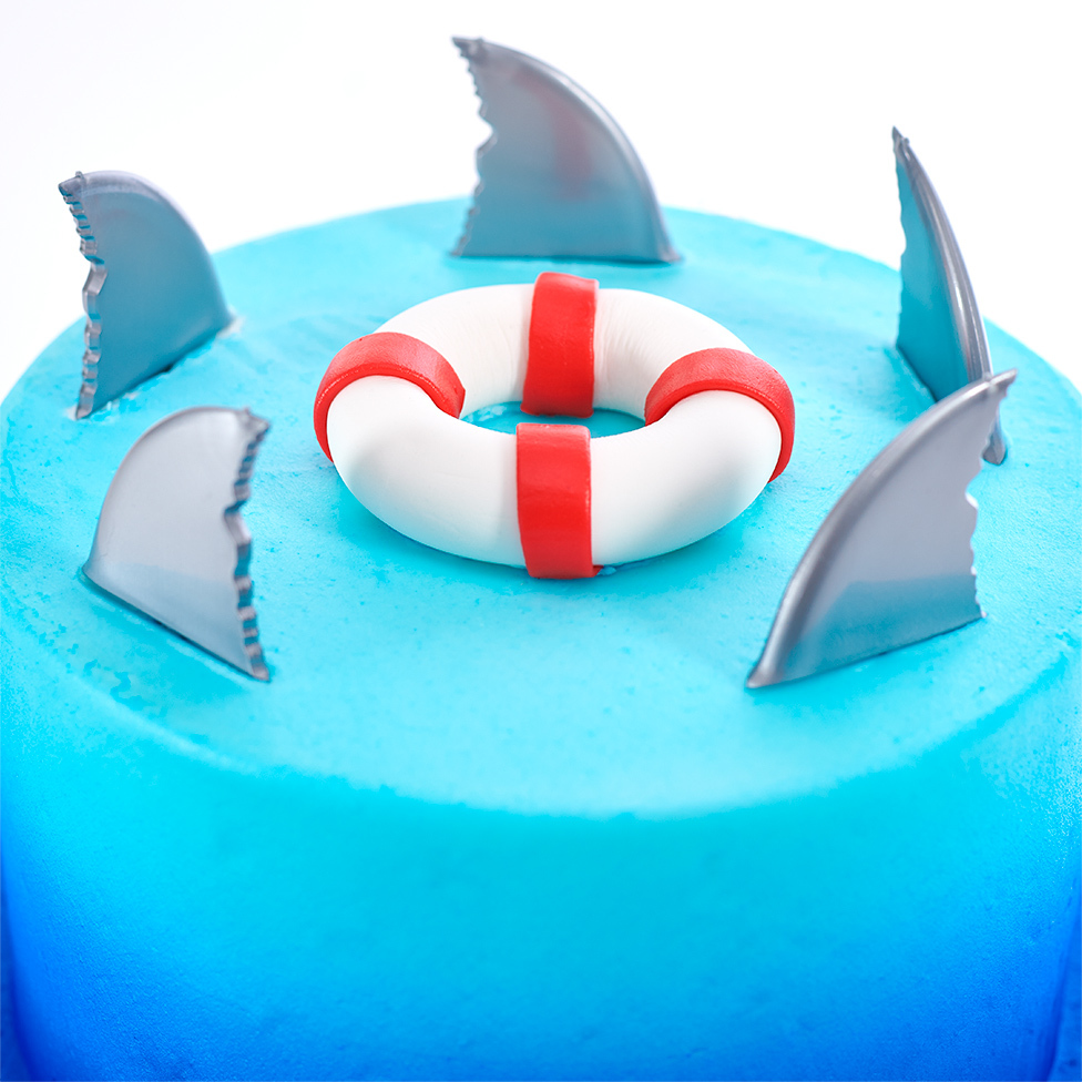 Shark Fins Layered Cake