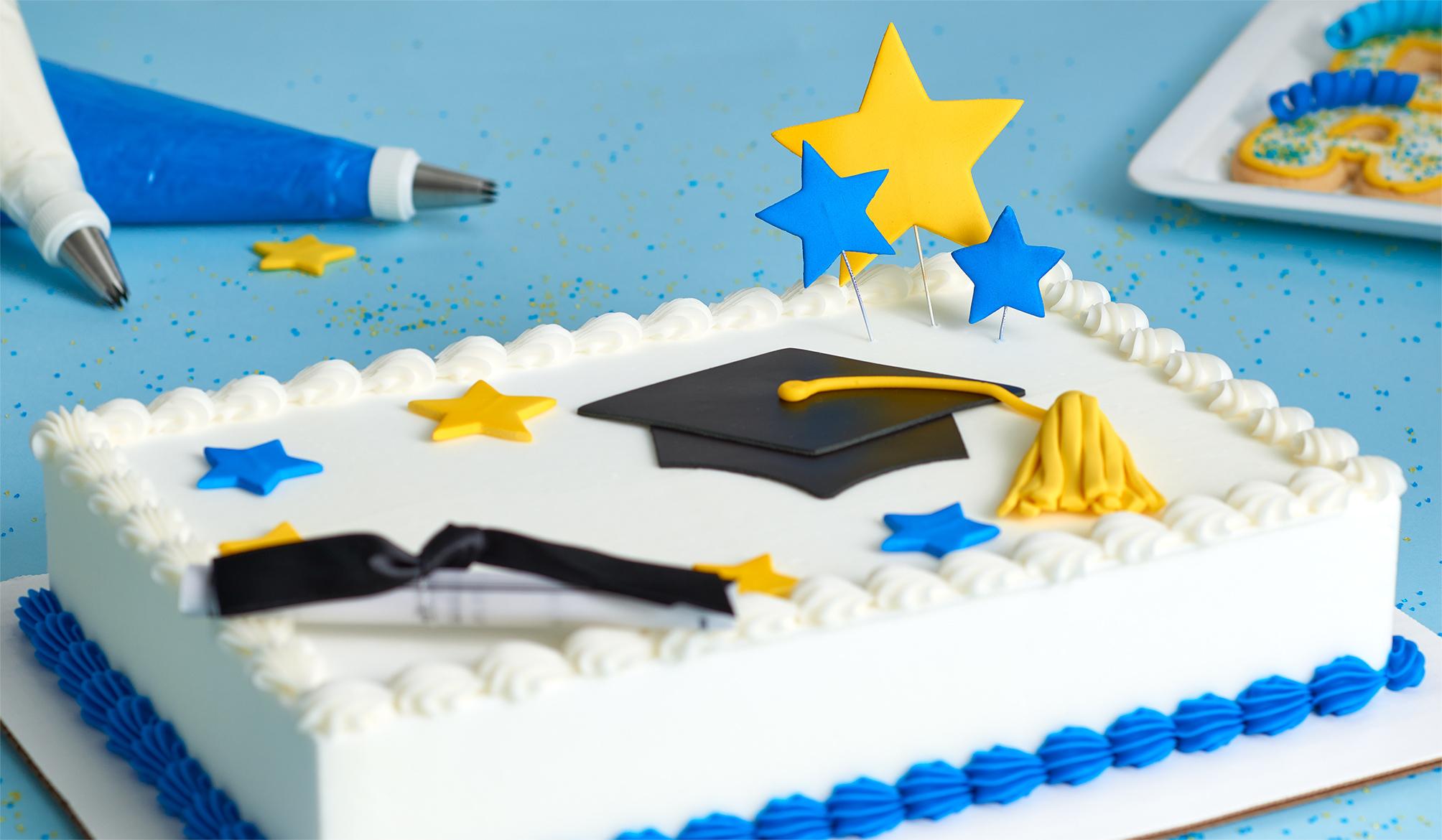 Gum Paste, Graduation, Stars, Cake