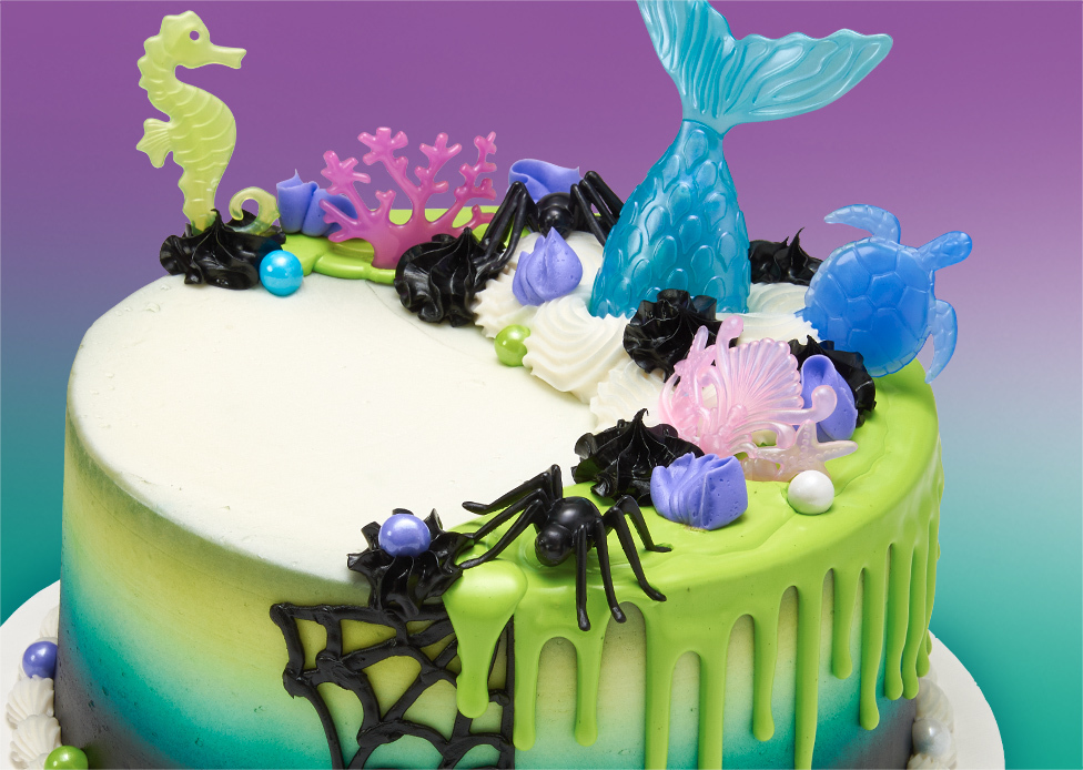 Halloween Mermaid Cake