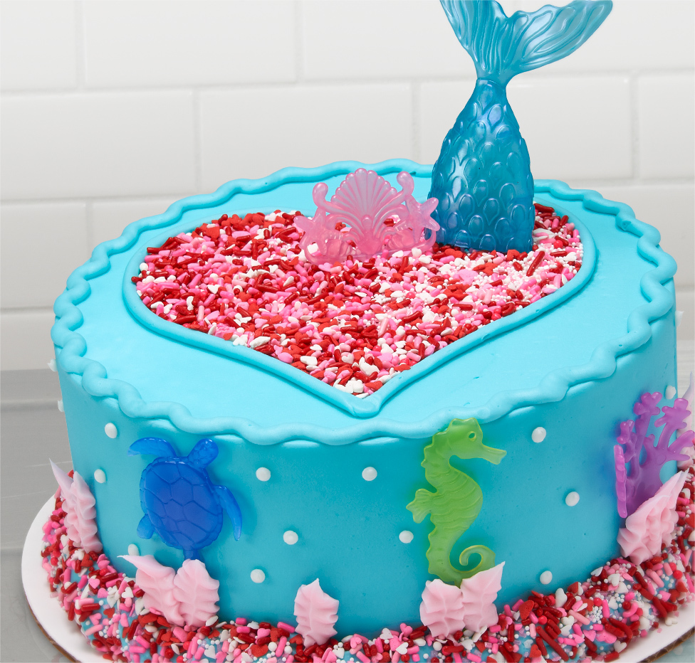 Mermaid Love Cake