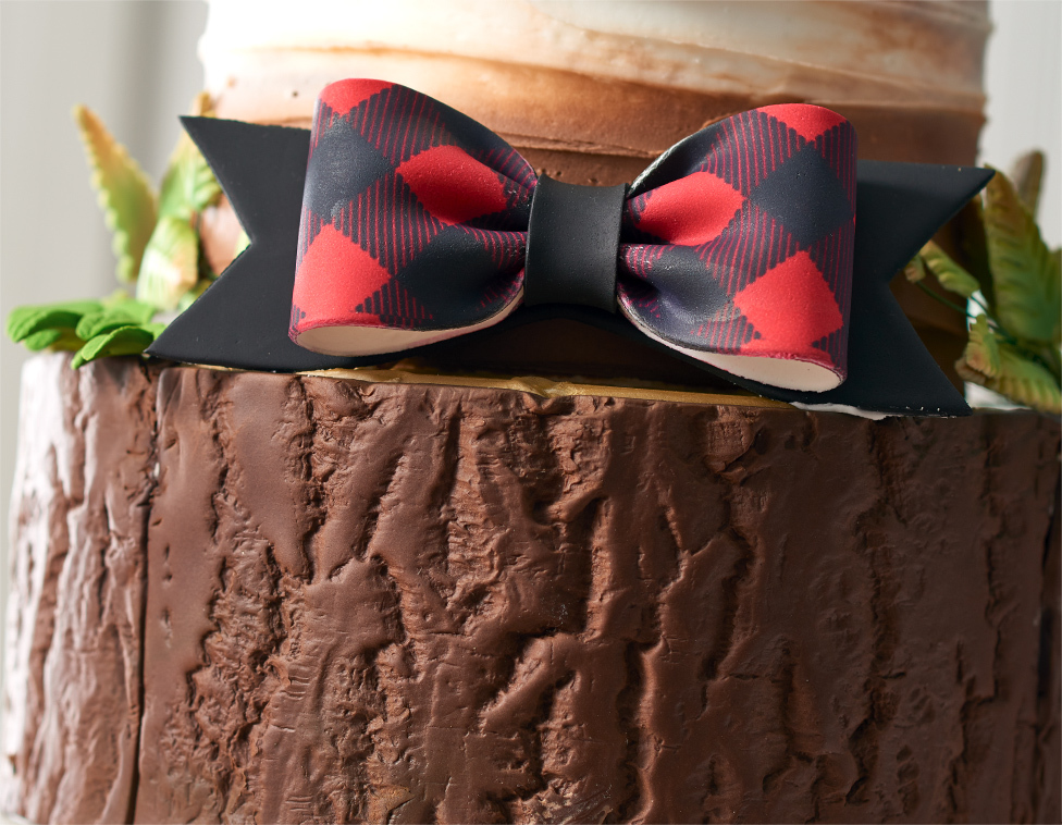 Bow on Bottom Layer Cake