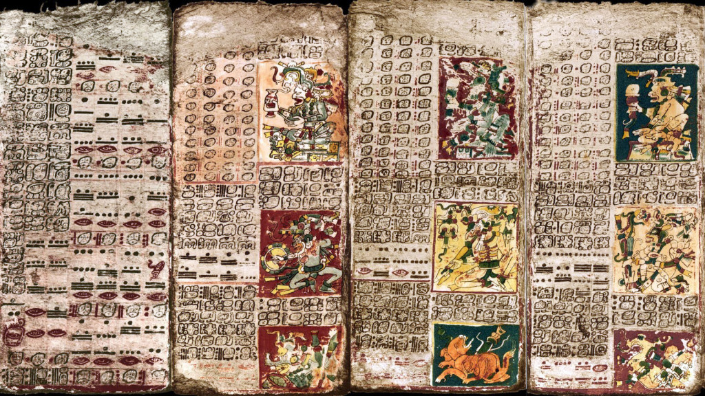 NOVA: Cracking the Maya Code: Premiering Tuesday, April 8 at 8pm ET/PT on PBS (check local listings), NOVA exposes the ancient Maya civilization of Central America and the brilliant leaps of insight that unlocked the door to understanding their intricate and mysterious hieroglyphic script. Pictured: Pages from the Dresden Codex, one of only four Maya books known to have survived the Conquest.  These pages track the planet Venus and helped a 19th century scholar figure out the Maya calendar and astronomy.Credit: Public DomainUsage: This image may be used only in direct promotion of NOVA.  No other rights are granted.  All rights are reserved.  Editorial use only.