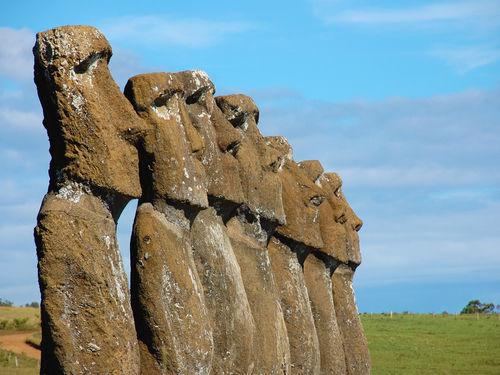 Easter Island Head Statues