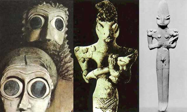 Nibiru-Annunaki-Sumerian-Statues-Reptilian-Hybrids