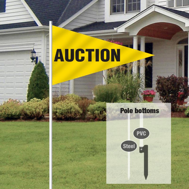 Auction Signs & Supplies Pennant Flag-AUCTION1_FLG_20