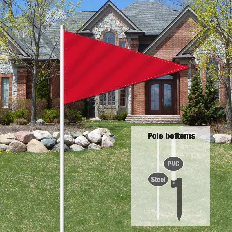 Auction Signs & Supplies Pennant Flag-RED00001_FLG_20