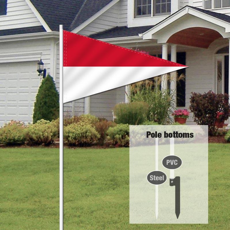 Auction Signs & Supplies Pennant Flag-REDWHITE_FLG_20