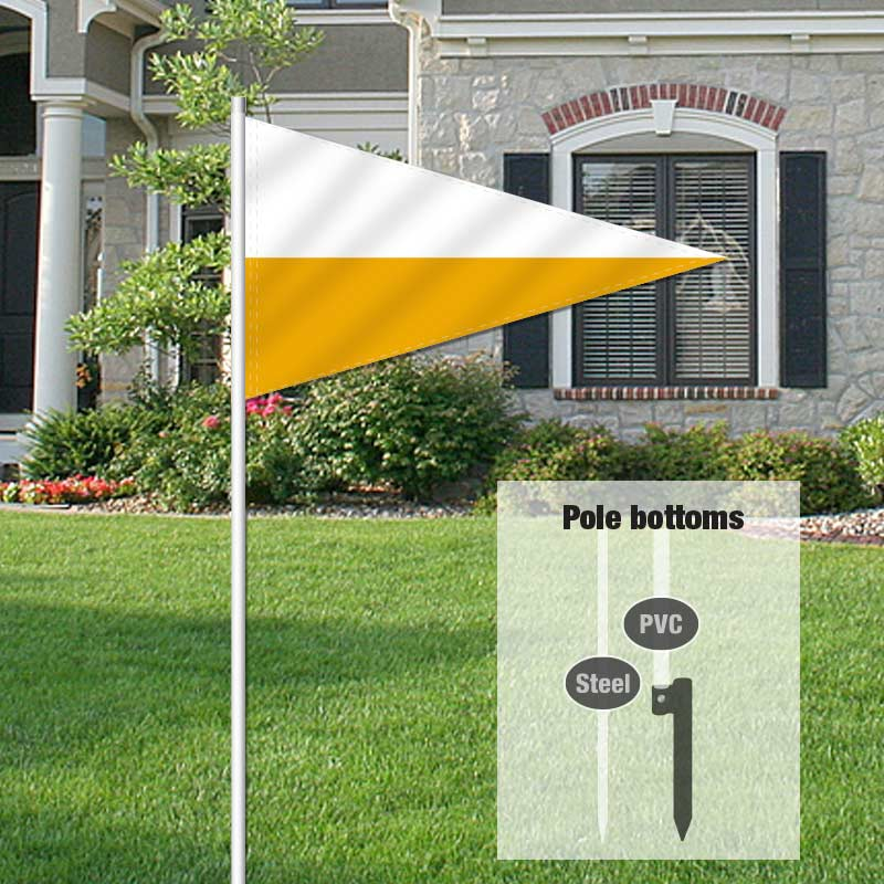 Auction Signs & Supplies Pennant Flag-WHITEGLD_FLG_20