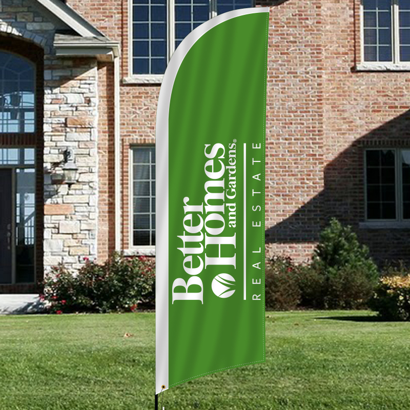 Feather flags signs for better homes and gardens real Better homes and garden real estate