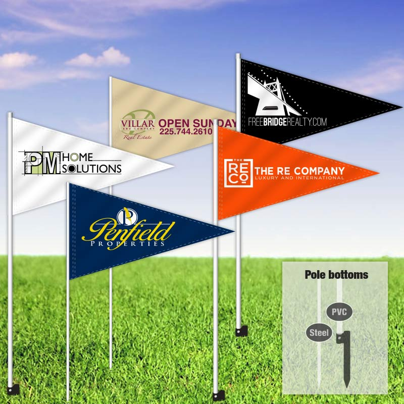 Builders & Contractors Signs Pennant Flag-CUSTOMFLAGS_8