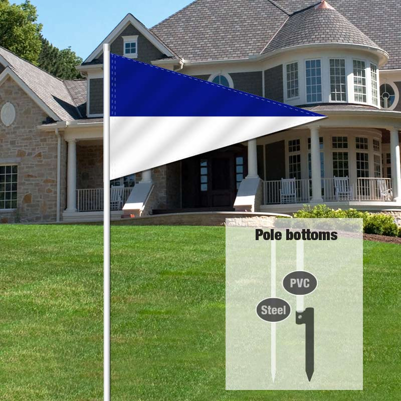 Builders & Contractors Signs Pennant Flag-LBLUEWHT_FLG_8