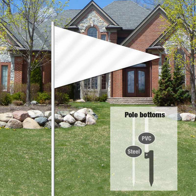 Builders & Contractors Signs Pennant Flag-WHITE001_FLG_8