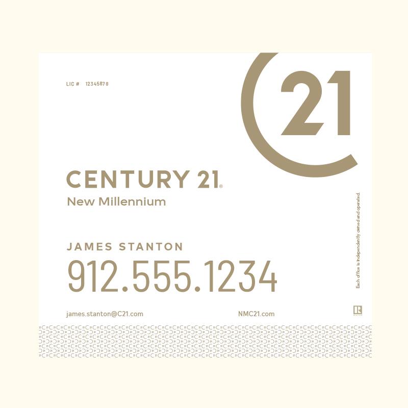 Century 21® Hanging Sign Panels-22X24RA_DES2W_200