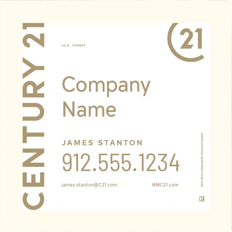 Century 21® Hanging Sign Panels-24X24HA_DES1W_200