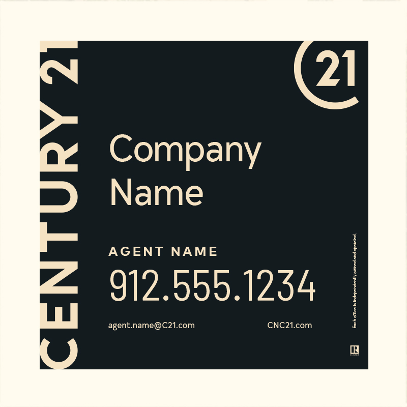 Century 21® Hanging Sign Panels-24X24RA_DES1BHC_200