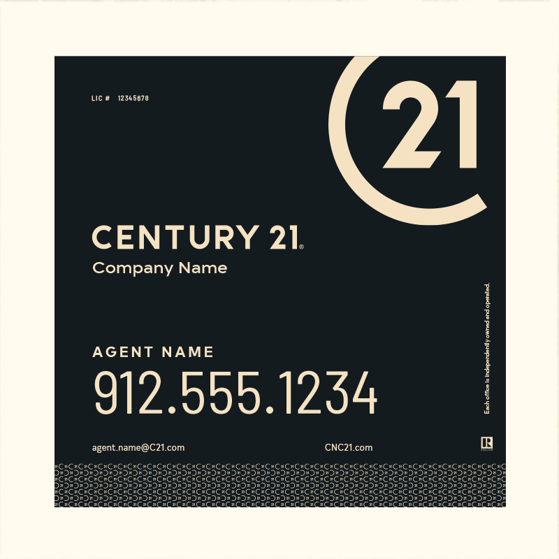 Century 21® Hanging Sign Panels-24X24RA_DES2BHC_200