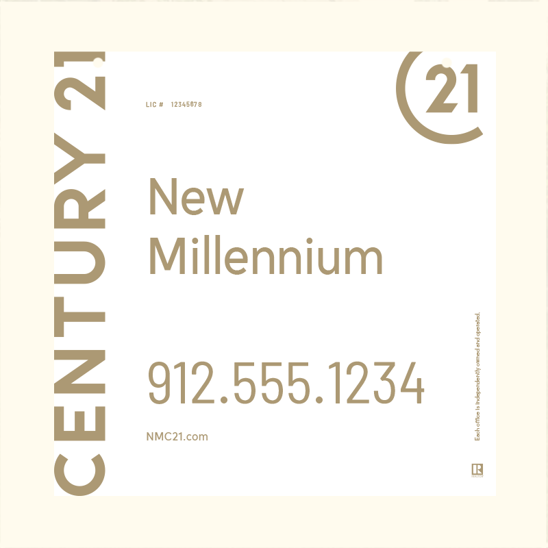 Century 21® Hanging Sign Panels-24X24RO_DES1W_200