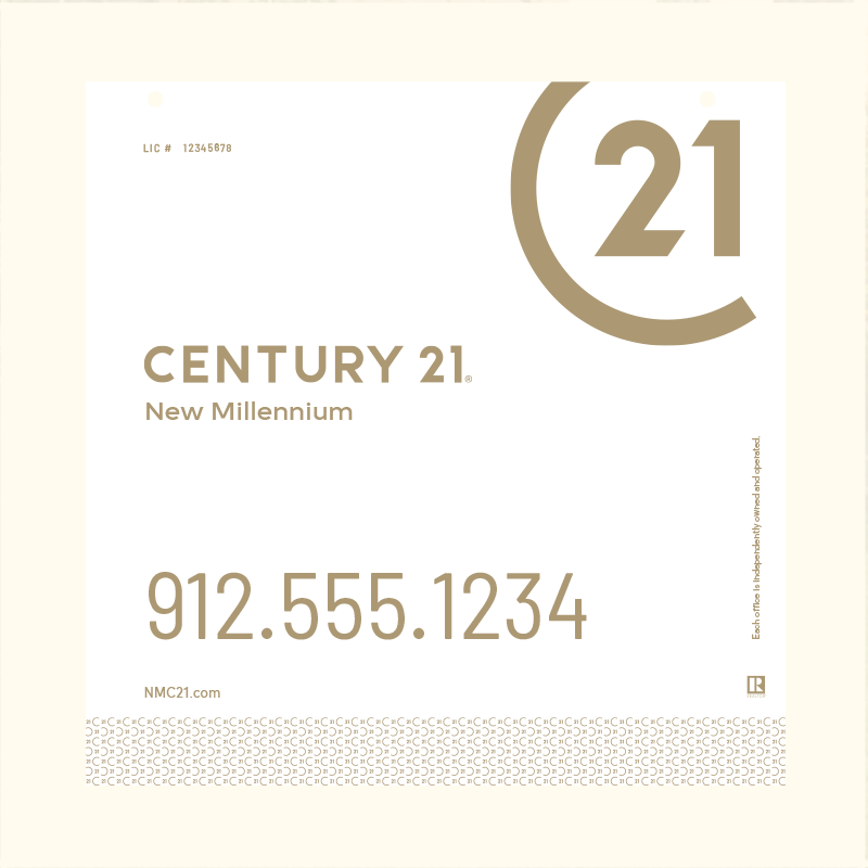 Century 21® Hanging Sign Panels-24X24RO_DES2W_200