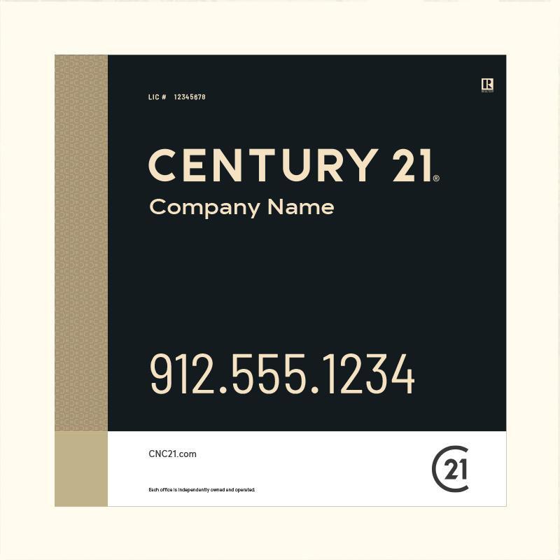 Century 21® Hanging Sign Panels-24X24RO_DES3BHC_200