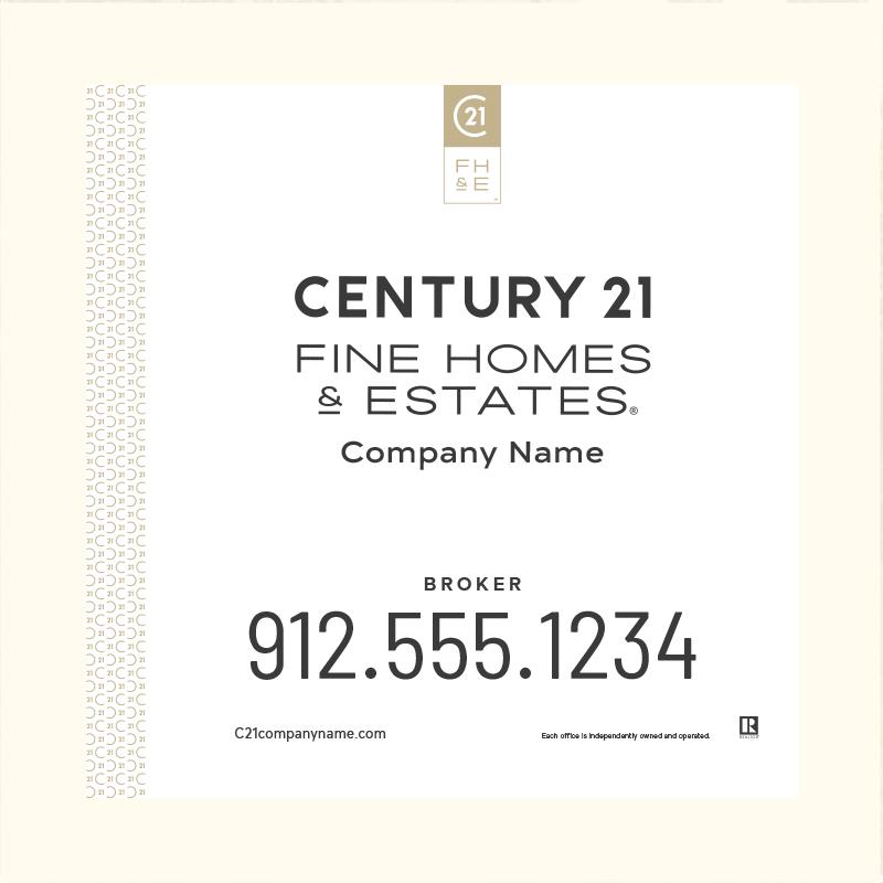 Century 21® Hanging Sign Panels-24X24_FHE_BRK1_200