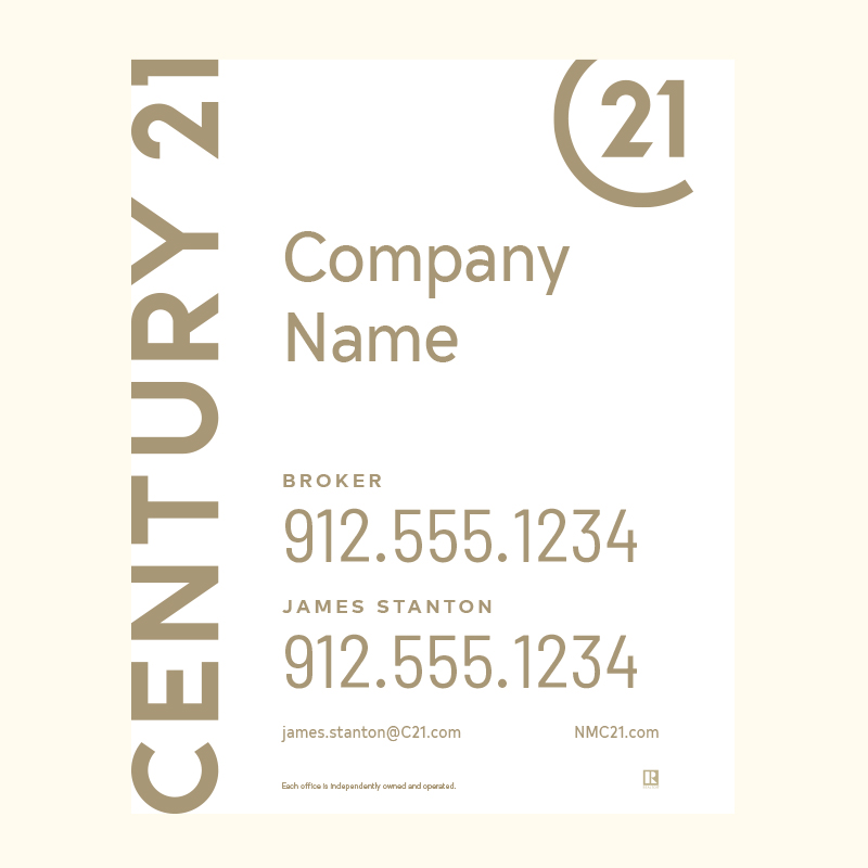Century 21® Hanging Sign Panels-30X24RA_DES1WP2_200