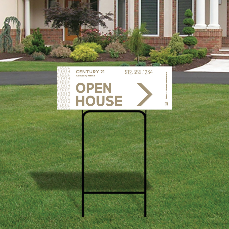 Century 21® Open House & Directional Signs-H30H_9X24_200