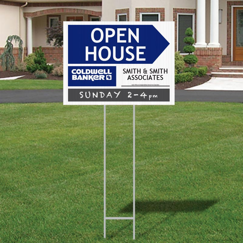 Coldwell Banker Step-In Corrugated Plastic Signs-974_18X24_CB