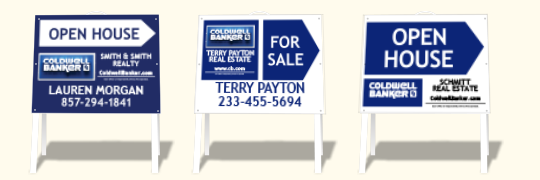 Directional Signs 18x24 Choice of. Standard or 3D Designs  sc 1 st  Dee Sign & Coldwell Banker Real Estate Signs - DeeSign