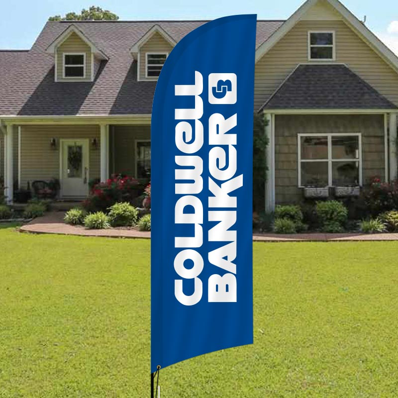 Coldwell Banker King Thompson Feather Flag Complete Kits-CB2FF_164
