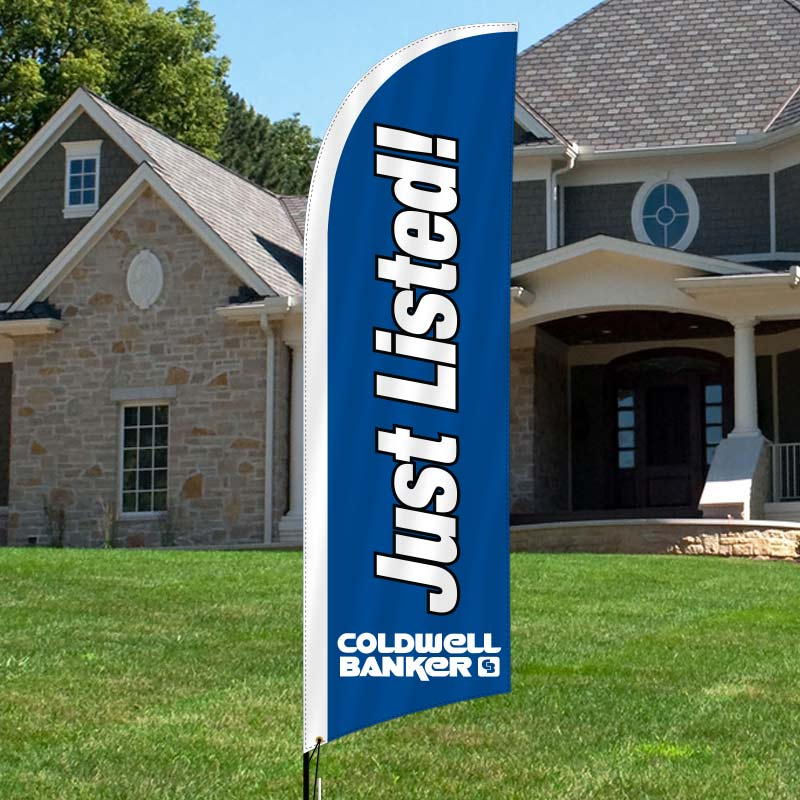 Coldwell Banker King Thompson Feather Flag Complete Kits-CB4FF_164