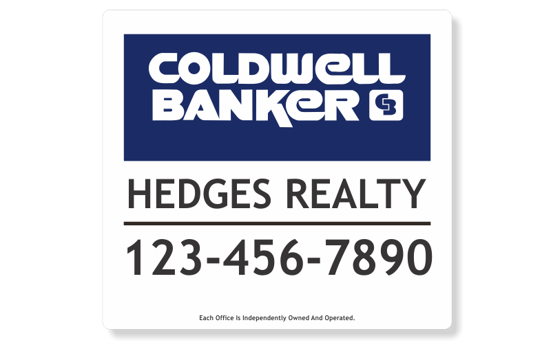 Coldwell Banker Signs & Frames-PANEL22X24