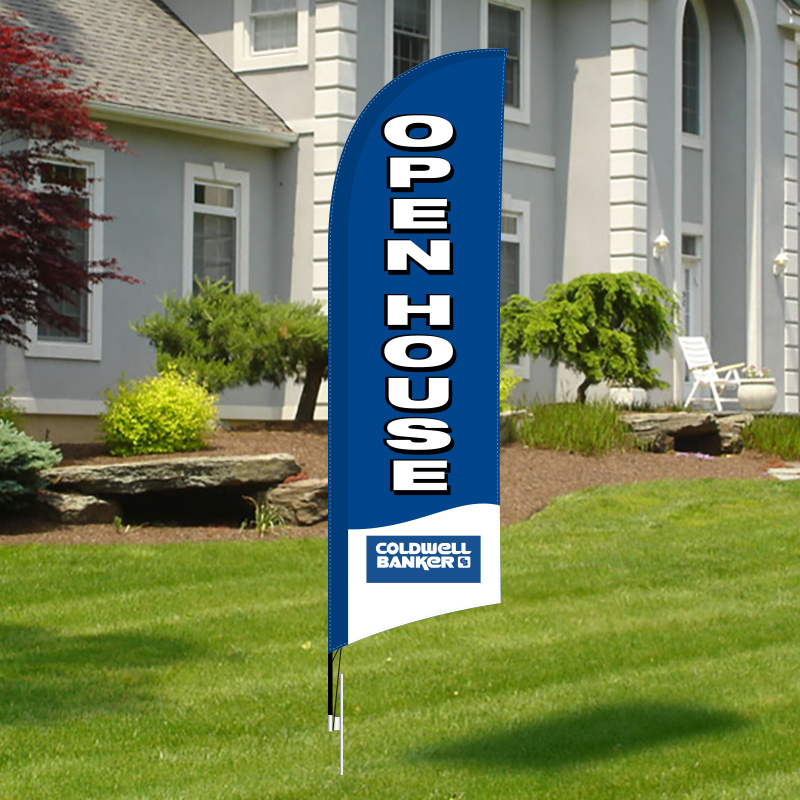 Coldwell Banker West Shell Feather Flags-CB1FF_66