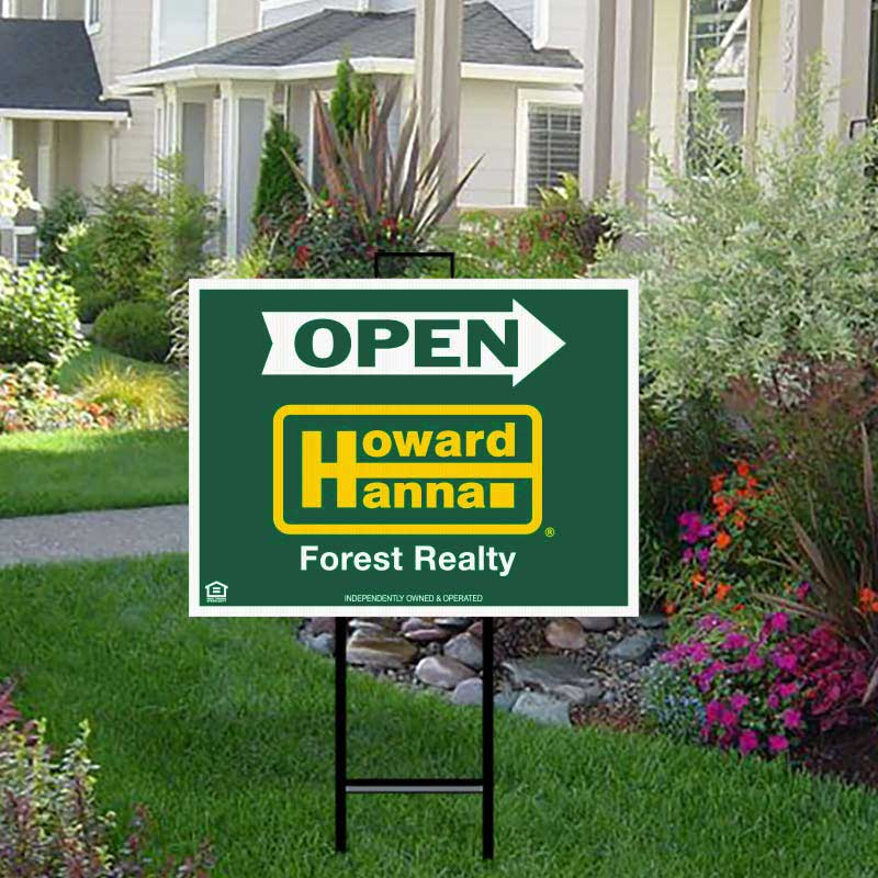 Howard Hanna Real Estate Signs Open House Signs Name Riders