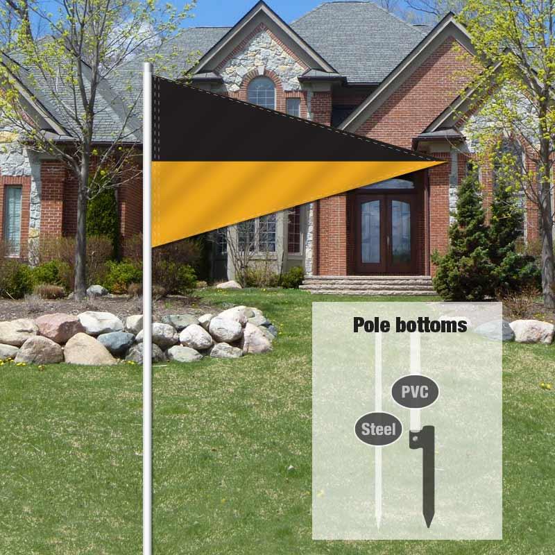 Independent Real Estate Pennant Flag-BLACKGLD_FLG_7