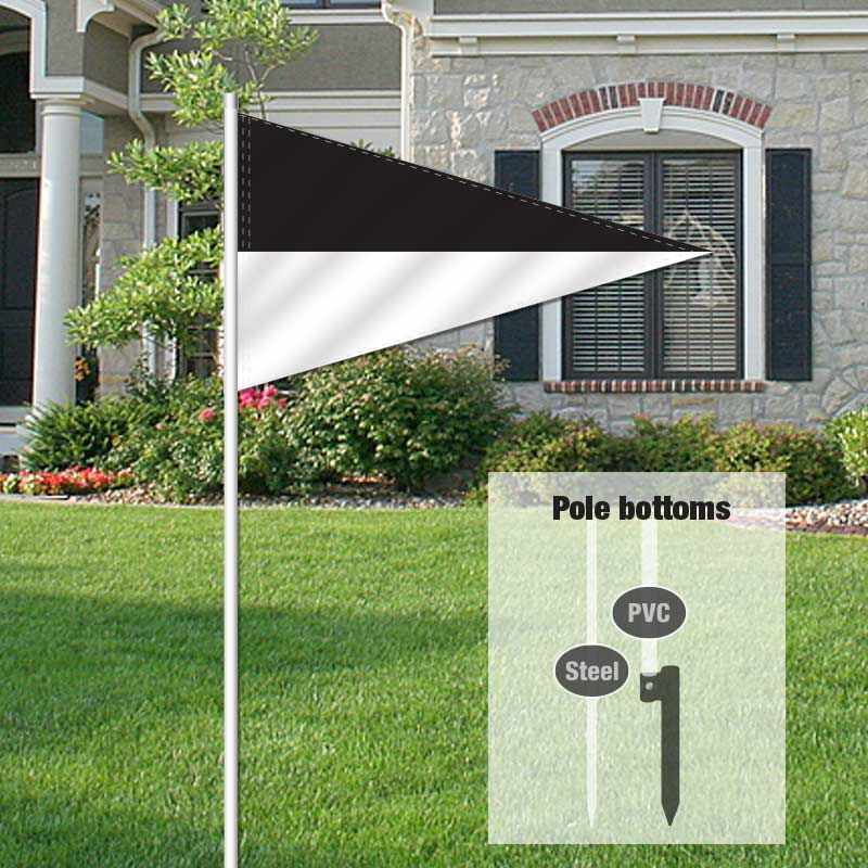 Independent Real Estate Pennant Flag-BLACKWHT_FLG_7