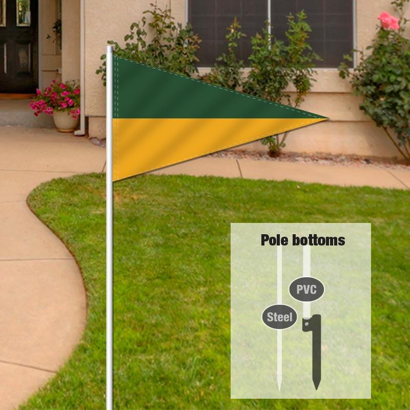 Independent Real Estate Pennant Flag-GREENGLD_FLG_7