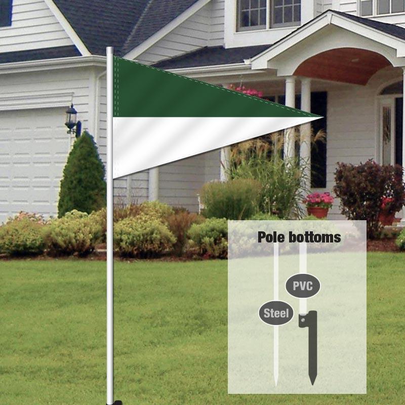 Independent Real Estate Pennant Flag-GRNWHITE_FLG_7