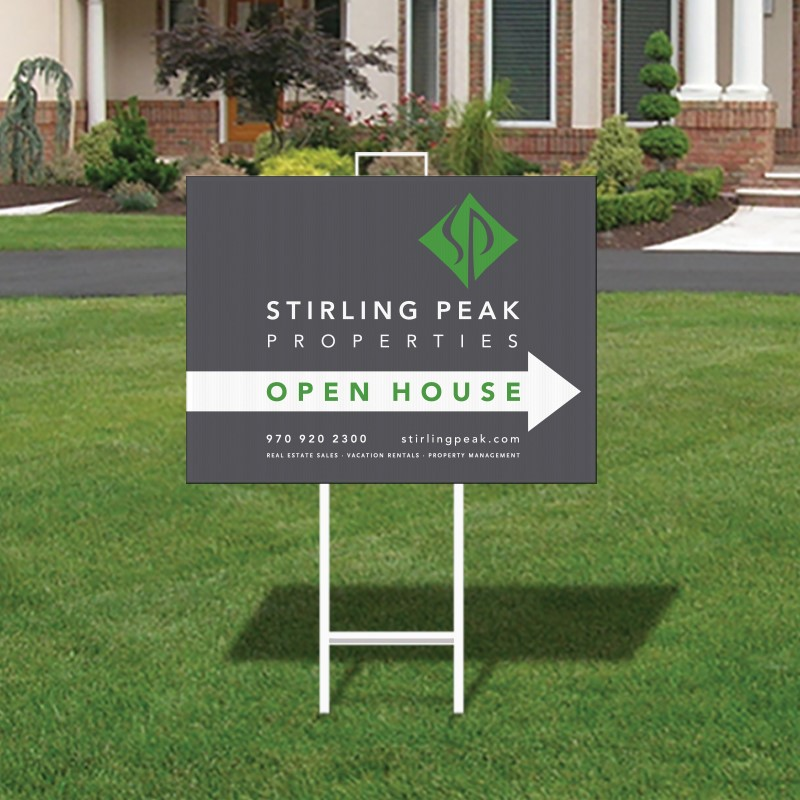 Independent Real Estate Open House & Directional Signs-IND292